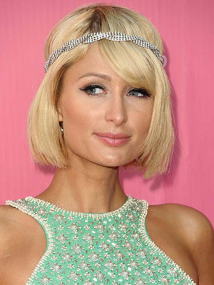 Beautiful Hairstyle Of Paris Hilton Side Part Bob Http