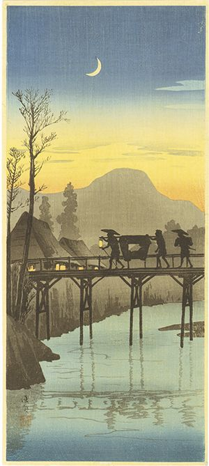 woodblock print by TAKAHASHI Shotei (1871-1945), Japan 高橋松亭