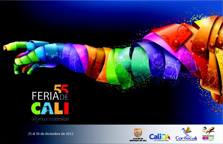Propuesta finalista en el concurso Afiche 55 Feria de Cali / Wadith Neira
