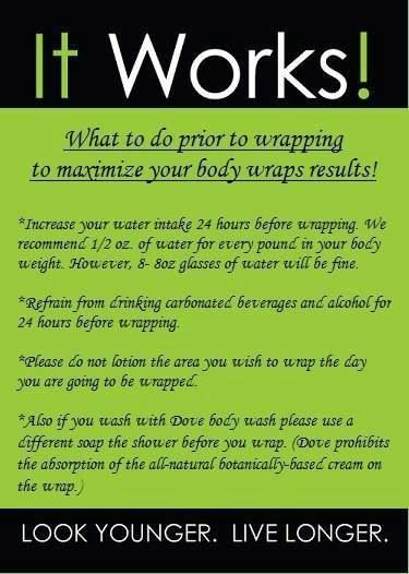 How to prepare to get the best results with It Works Body Wraps. Visit our website for wrapping tips, ingredients & a short video to show you how to wrap any area of your body you want to improve. http://atanti.myitworks.com/