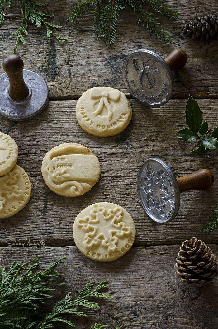 Sabores y Momentos | Galletas de Navidad con sellos {receta fácil} | Christmas Stamped Cookies http://saboresymomentos.es