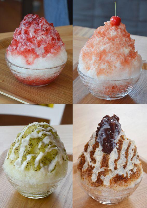 Kakigori - Shaved ice dessert in Yamagata