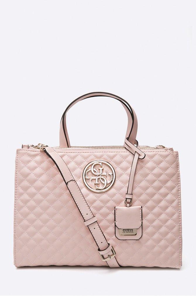 64bf14dc1563 Guess Jeans - Kézitáska Lux Status pasztell rózsaszín 4921-TOD035 ...