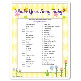 what 39 s your song baby baby shower game matching songs with baby in