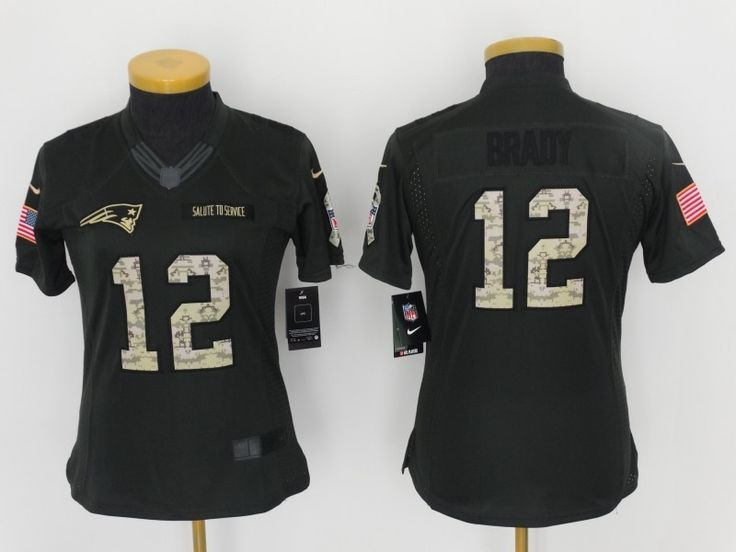 Women New England Patriots 12 Tom Brady Salute To Service Limited Jersey
