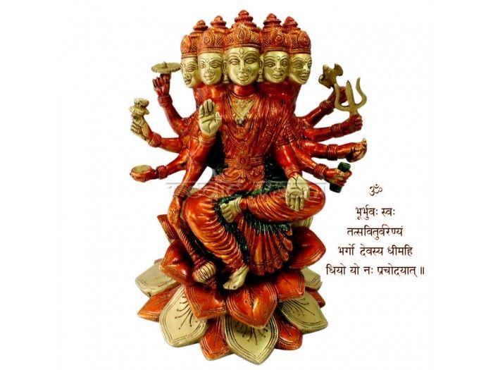 Goddess Gayatri Statues in Exotic Finish, Buy online Gayatri Statue from Vedic Vaani.