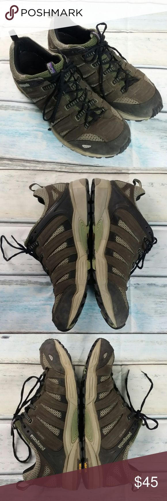 Men's Patagonia Hiking shoes Gore-Tex sz 13 Vibram Men's Patagonia Hiking shoes Release Gore-Tex size 13 Vibram espresso sneakers Goretex Brown Gray Lace up   c6 Patagonia Shoes Sneakers