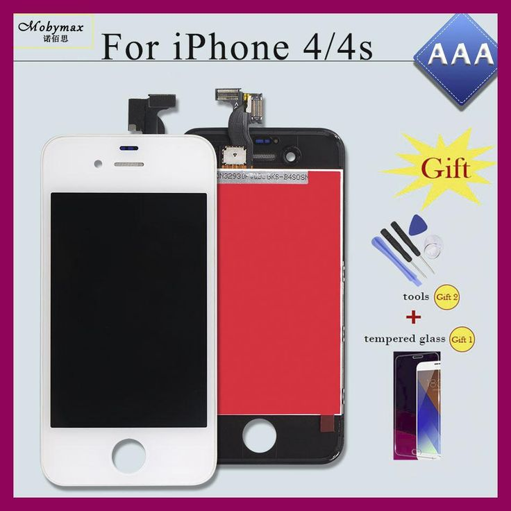 Mobymax AAA Pantalla Ecran Module for iPhone 4S 4 5 5S 6 LCD Display Touch Screen Digitizer Assembly Replacement Part+Free Gift