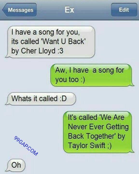 #FunnyTexts About Ex ft. #CherLloyd vs. #TaylorSwift