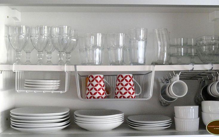 Como Organizar Pratos e Copos http://makemebetter.com.br/como-organizar-a-cozinha/