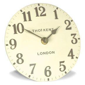 Thomas Kent Arabic Cream Mantel Clock - 6 Inch