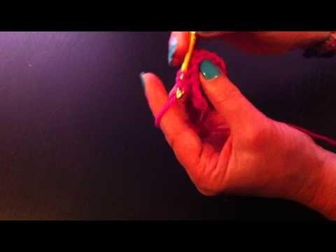 Ganchillo: Cómo hacer un corazón - hacer un corazón con ganchillo - YouTube