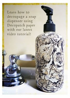 How to decoupage things - I can do this!