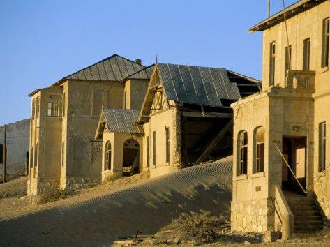 Kolmanskop Ghost Town in the Namib desert, Namibia, Africa