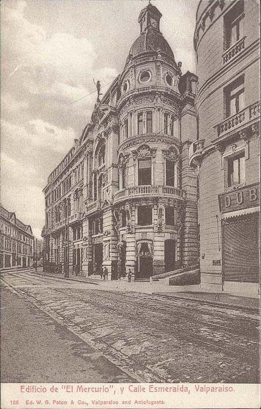 Postal edificio El Mercurio.