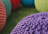 Gumball Knitted Pouffe #pouffe #ottoman