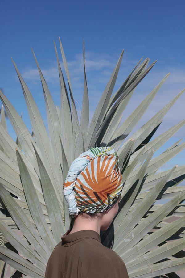 Kopftuch in Palmenoptik – Pflanzenfreude.de