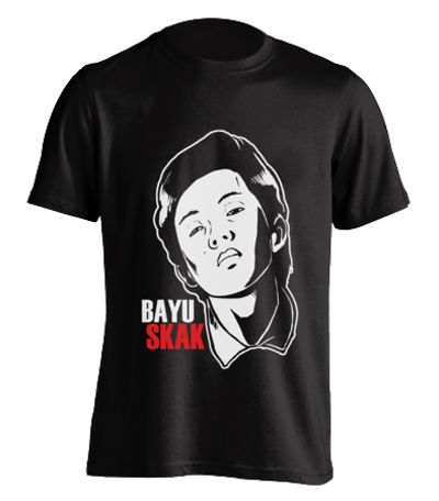 Bayuskak is a youtuber from malang. Made from Cotton 30s this tee is a must for a fan of bayuskak. Round-neck T-shirt, short sleeve. Bayuskak Tshirt from tees.co.id design by Bayuskak.  http://www.zocko.com/z/JJ694
