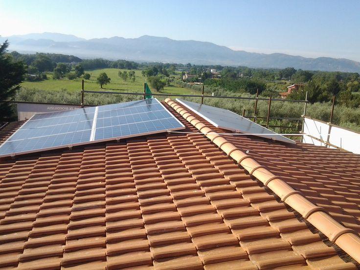 #sistema #fotovoltaico per #casa #ecologica e #green in #legno in provincia di #roma