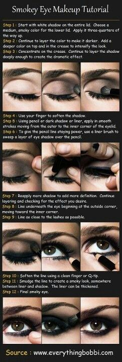 Smokey eyes how to: for my punk senior picture haha