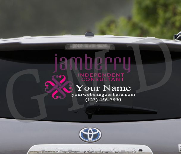 Jamberry car decal package personalized name advertising website sales 28 00 http