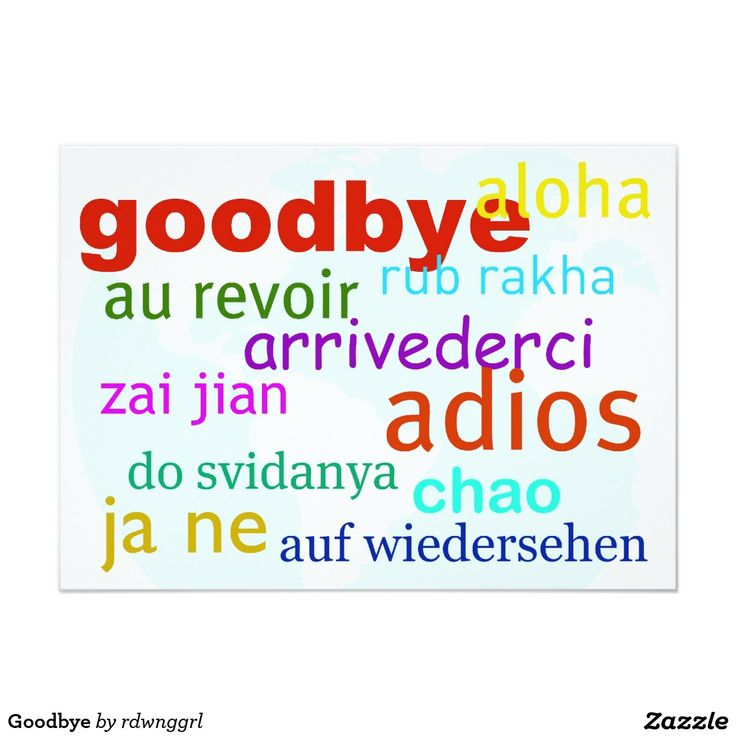 Goodbye Card Template  LondaBritishcollegeCo
