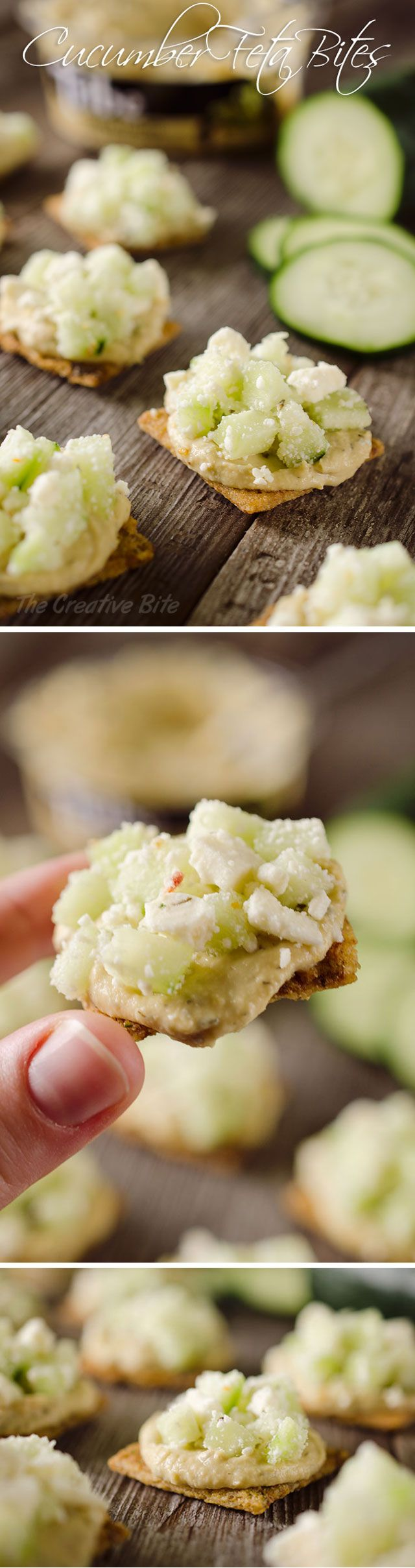 Cucumber Feta Bites are an easy appetizer or snack that are not only healthy, but satisfying and delicious!