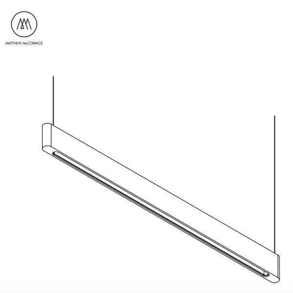 Line Light 40 Linear Pendant Light by Matthew McCormick Studio | Its Thyme