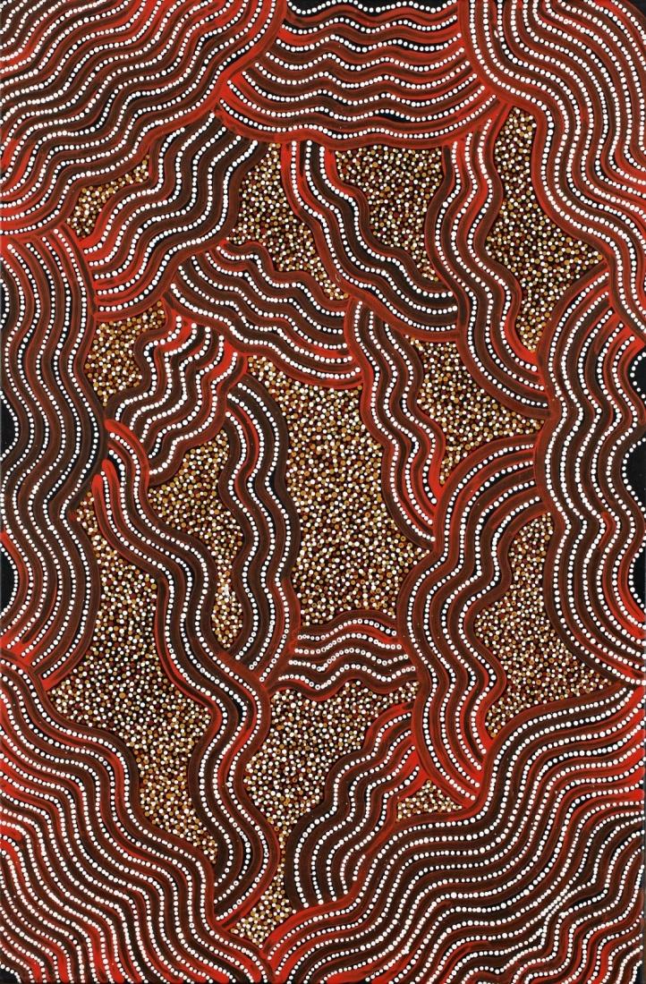 Jeannie PETYARRE  Yam Seed Dreaming, 1997  Aboriginal Art