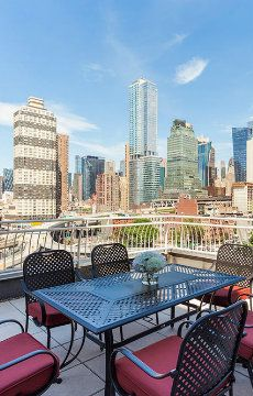 View from the terrace at Midtown Retreat Penthouse, a luxury 3-bedroom New York villa