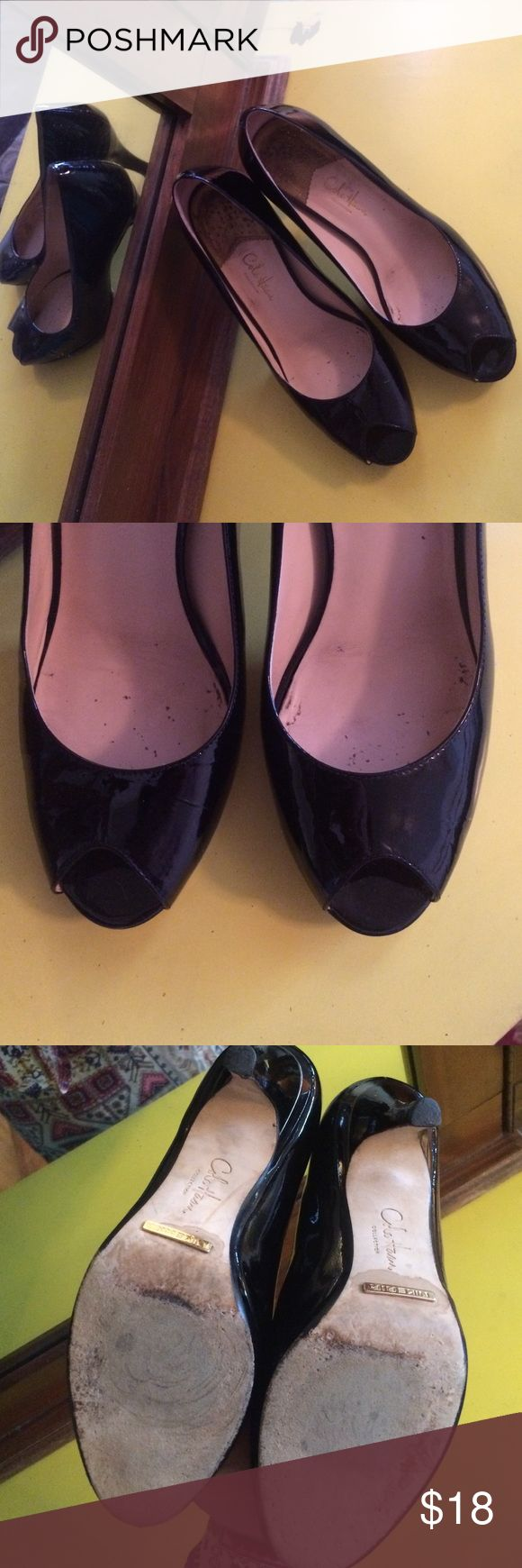 Cole Haan Peep Toe Pumps Great condition. No scuffs. Cole Haan Shoes