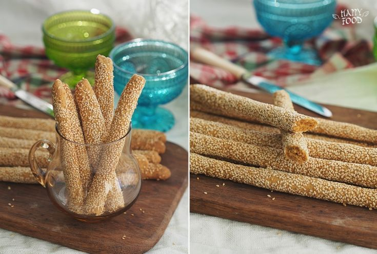 HAPPYFOOD - Сырные хлебные палочки с кунжутом