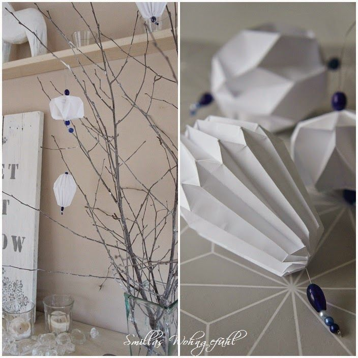 DIY : Origami ornaments...so easy! Origami/Plissee Ornamente und Anhänger ganz einfach selbst falten.