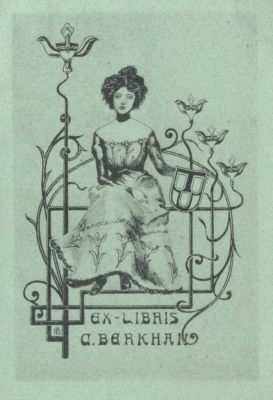 Bookplate by Karl Berkhan for Himself, 1900c.