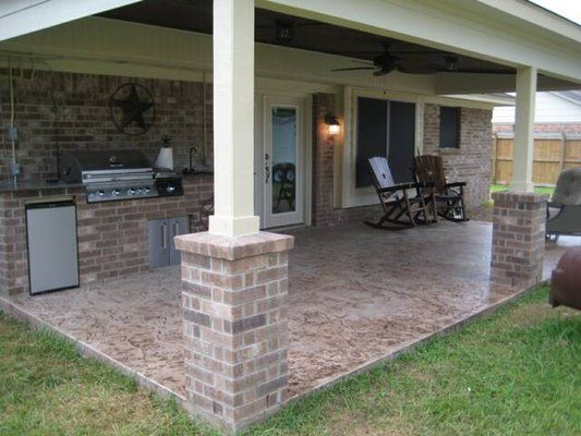 Captivating Covered Patio Like The Brick Posts
