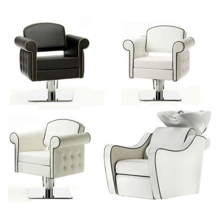 Hair Salon Furniture Cheap #32: Perfect Adjustable Height Chairs, These Vintage Chic Hair Salon Chairs.