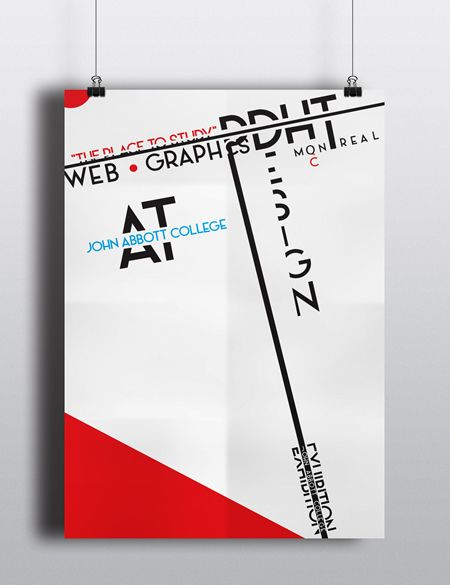 Exhibition Poster inspired by Modrian Colors and the design aspect of David Carson