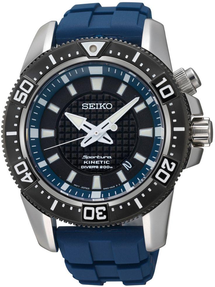 Ceasuri | Chrono12 - Seiko SKA563P1 Sportura Kinetic Diver Herrenuhr 20ATM