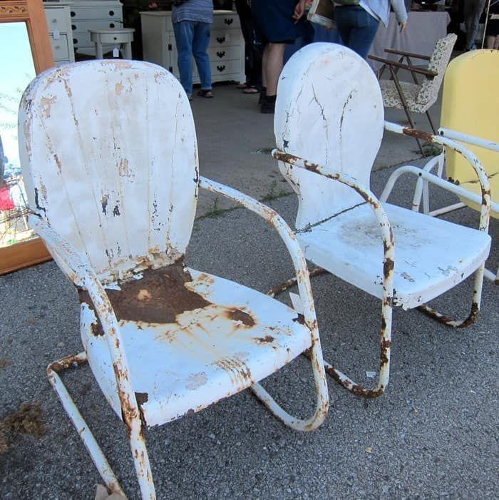 Rusty Metal Outdoor Chairs #nashvillefleamarket #nashville #fleamarket