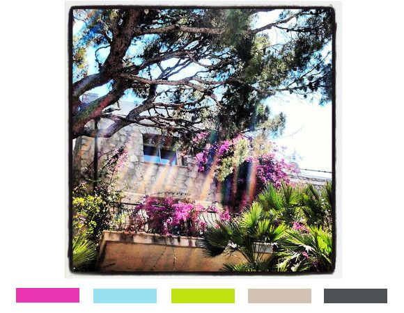 villefranche, còte d'azur, inspiration of the day color trend