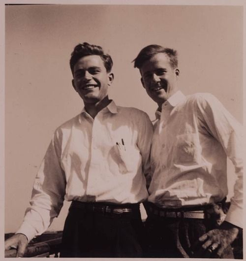 Eugene Sledge and Sidney Phillips, after the war and at home in Alabama. (Their story is told in the mini-series, The Pacific.) A couple of great Americans!