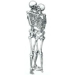 fuckyeah, perfection skeleton kiss