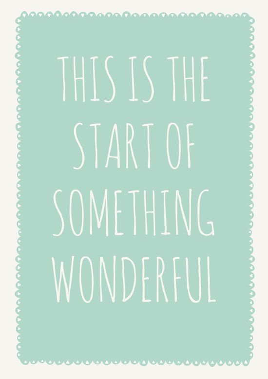 Everyday is the fresh start you need. So take each day as it comes, and make each day beautiful!