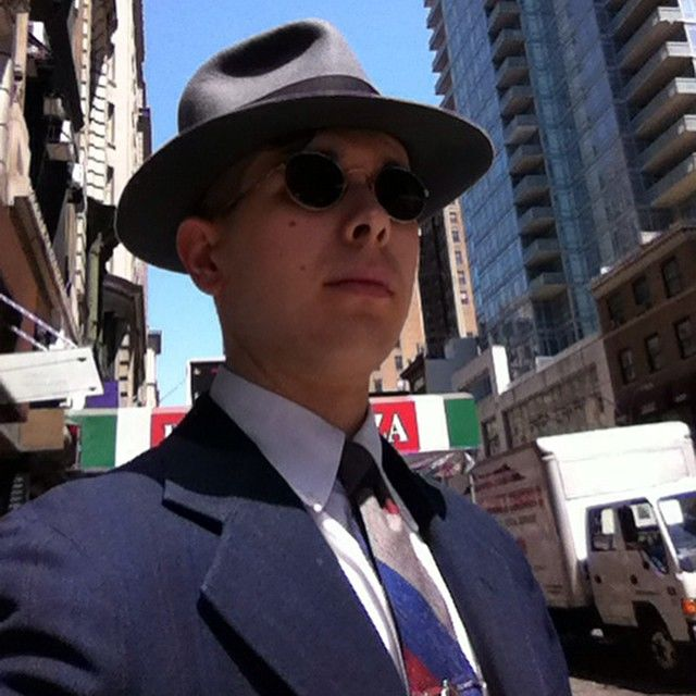 From Thursday. Early '30s era styling. Borsalino Film #fedora early #RaphLauren…