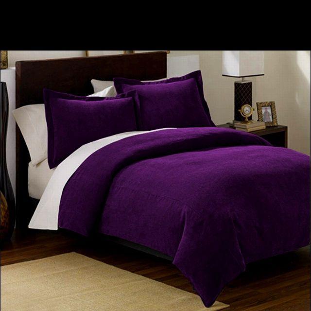 Dark Purple Bedroom Accent Wall