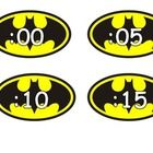 These Batman clock numbers would make a great addition to your Super Hero themed classroom.  Thanks for visiting my TpT store,  Wendy Kreider...