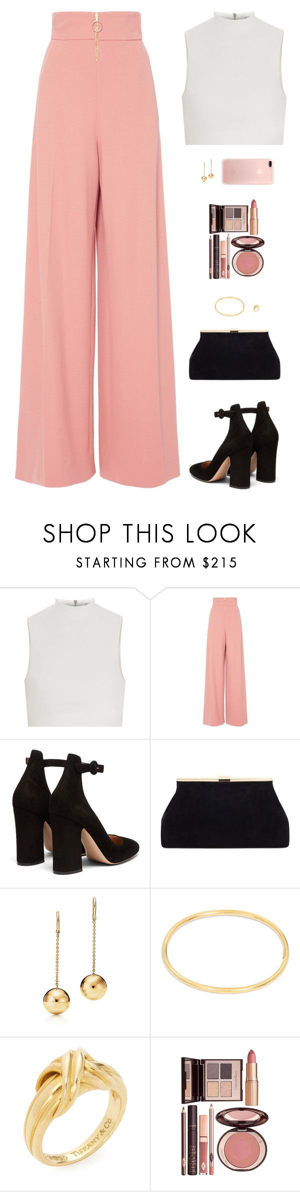 """Sin título #4777"" by mdmsb on Polyvore featuring moda, Elizabeth and James, Christian Siriano, Gianvito Rossi, Tiffany & Co. y Charlotte Tilbury"
