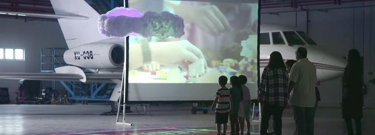 when a group of singapore school childred prototyped the 'candy cloud,', the LEGO group challenged engineers at singapore polytechnic to make it a reality.