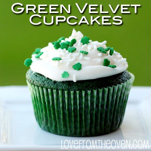 These green velvet cupcakes and green velvet cake are super simple to make from scratch, as easy as making a cake mix!