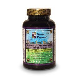 Green Pasture Blue Ice Royal Butter Oil/Fermented Cod Liver Oil Blend Capsules